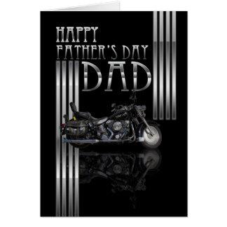 Cartão do dia dos pais do pai com velomotor