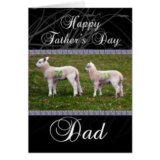 Cartão do dia dos pais do pai - cordeiros