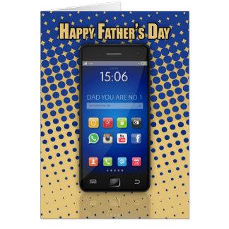 Cartão do dia dos pais do pai do
