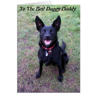 Cartão do dia dos pais do pai do Doggy