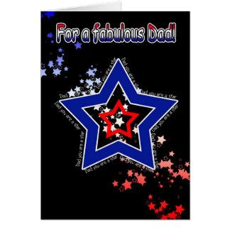 Cartão do dia dos pais do pai - estrela