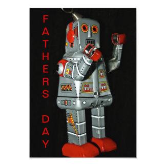 Cartão do dia dos pais do robô da lata convite 12.7 x 17.78cm
