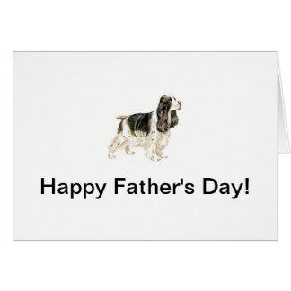 Cartão do dia dos pais do Spaniel de Springer
