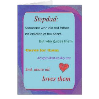Cartão do dia dos pais do Stepdad