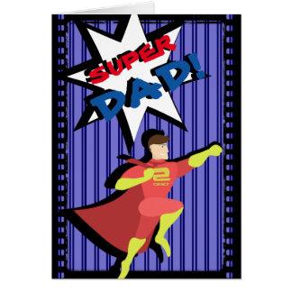 Cartão do dia dos pais do super-herói