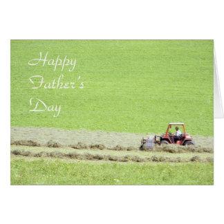 Cartão do dia dos pais do trator