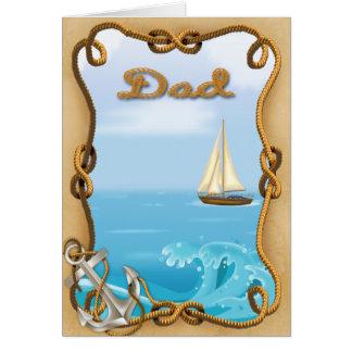 Cartão do dia dos pais do veleiro