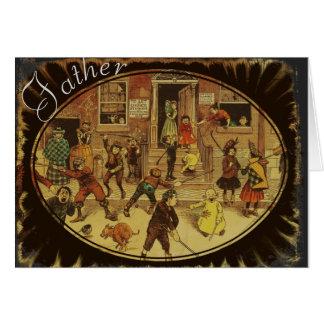 Cartão do dia dos pais do vintage