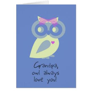 Cartão do dia dos pais do vovô