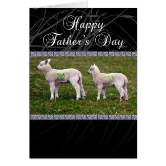 Cartão do dia dos pais do vovô - cordeiros