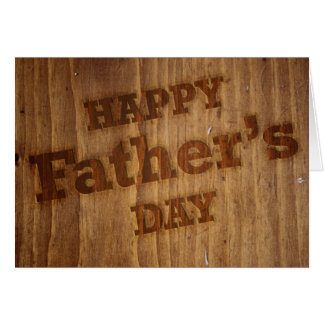 Cartão do dia dos pais do Woodworker