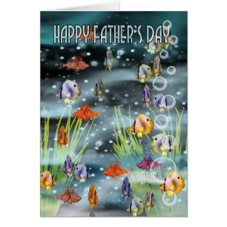 Cartão do dia dos pais dos peixes - cartão dos pei