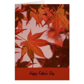 Cartão do dia dos pais, folhas de bordo vibrantes