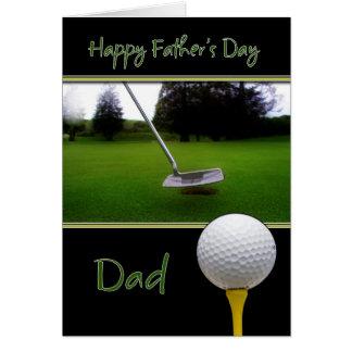 Cartão do dia dos pais - golfe