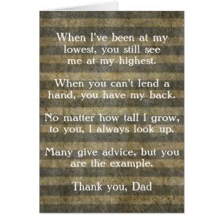 Cartão do dia dos pais, obrigado