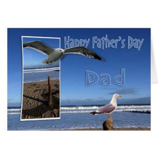 Cartão do dia dos pais - opinião do mar da gaivota