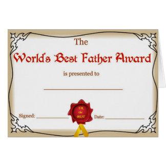Cartão do dia dos pais/pai dos mundos melhor