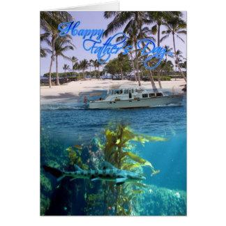 Cartão do dia dos pais, pai, trio tropical