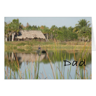 Cartão do dia dos pais para o esporte da pesca