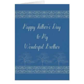 Cartão do dia dos pais para o irmão no azul