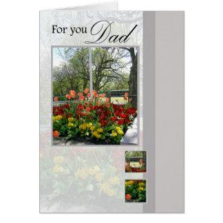 Cartão do dia dos pais para o pai, para você pai