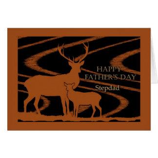 Cartão do dia dos pais para o Stepdad, cervo no