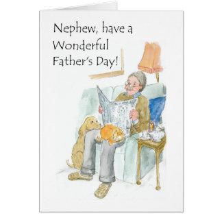 Cartão do dia dos pais para um sobrinho