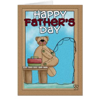 Cartão do dia dos pais - pesca do urso de ursinho