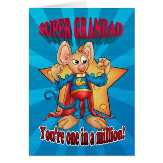Cartão do dia dos pais - rato super do Grandad -