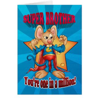 Cartão do dia dos pais - rato super do irmão - um