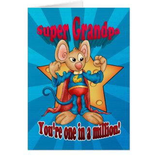Cartão do dia dos pais - rato super do vovô - um e