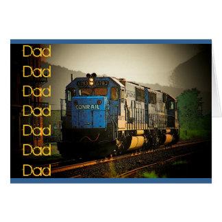 Cartão do dia dos pais (trem)