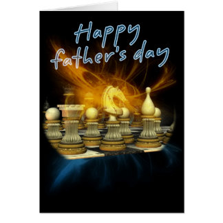 Cartão do dia dos pais - xadrez