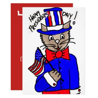 Cartão do Dia Gato do presidente Convite 12.7 X 17.78cm