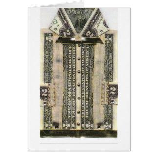 cartão do dinheiro do aniversário