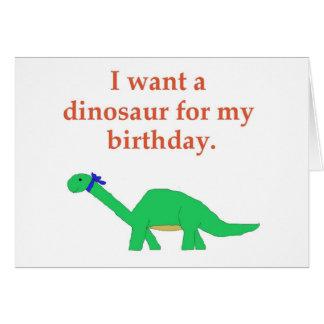 Cartão do dinossauro do aniversário