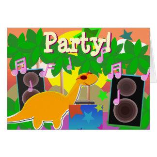 Cartão do dinossauro do feliz aniversario do