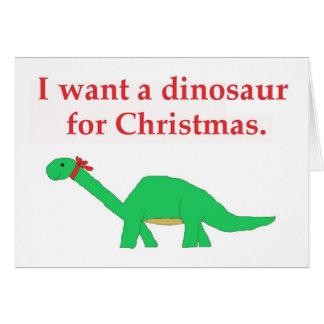 Cartão do dinossauro do Natal