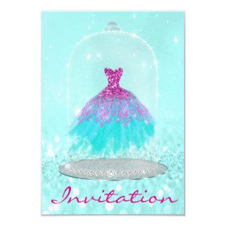 Cartão Do doce cor-de-rosa do vestido do diamante de