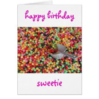Cartão do docinho do feliz aniversario