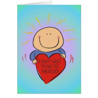 Cartão do Dojo do bebê das artes marciais para o