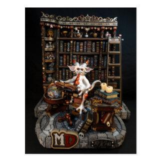 Cartão do dragão da biblioteca