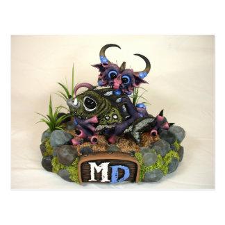 Cartão do dragão da DM Cuddlefish