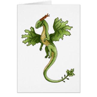 Cartão do dragão da floresta