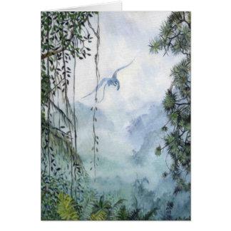 Cartão do dragão da montanha enevoada