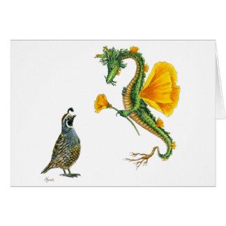 Cartão do dragão da papoila de Califórnia