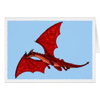 Cartão do dragão de vôo