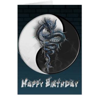 Cartão do dragão de Yin Yang