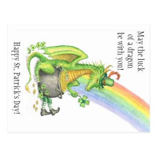 Cartão do dragão do dia de St Patrick