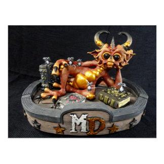 Cartão do dragão do fogo da DM
